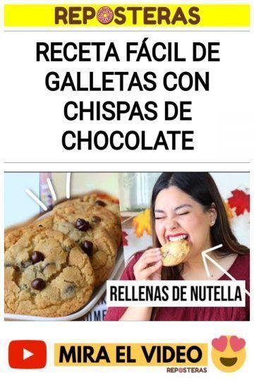 Receta FÁCIL de galletas con chispas de chocolate