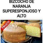 Como hacer Bizcocho de naranja SUPERESPONJOSO y ALTO