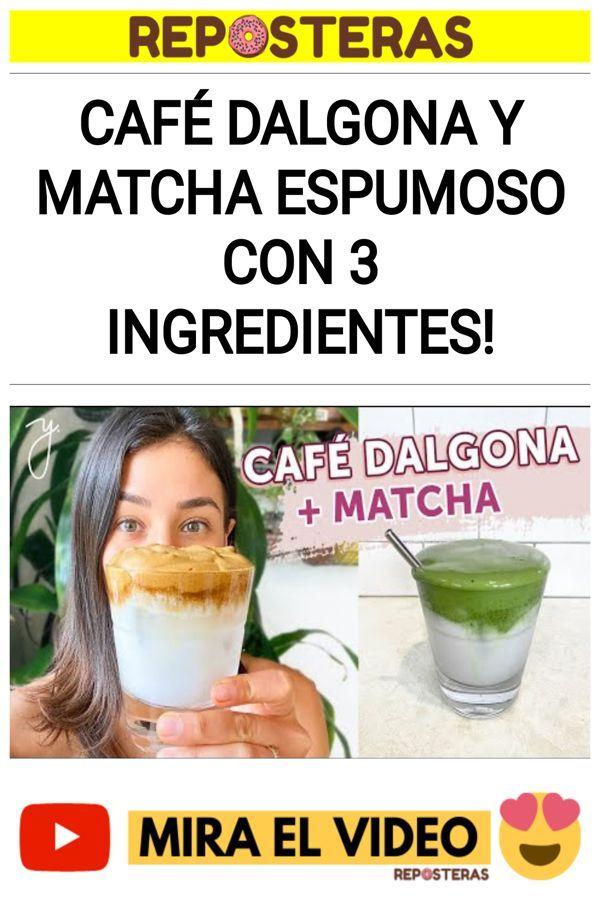 CAFÉ DALGONA Y MATCHA ESPUMOSO con 3 Ingredientes!