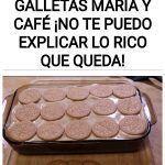 Postre de GALLETAS MARÍA Y CAFÉ ¡No te puedo explicar lo rico que queda!