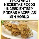 GALLETAS DE AVENA Y PLÁTANO | Necesitas POCOS ingredientes y podrás hacerlas SIN HORNO