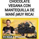 TORTA DE CHOCOLATE VEGANA CON MANTEQUILLA DE MANÍ ¡MUY RICA!