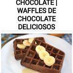 Gofres de avena y chocolate | Waffles de chocolate deliciosos