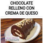 Brazo gitano de chocolate relleno con crema de queso