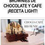Brownies de chocolate y cafe ¡Receta light!