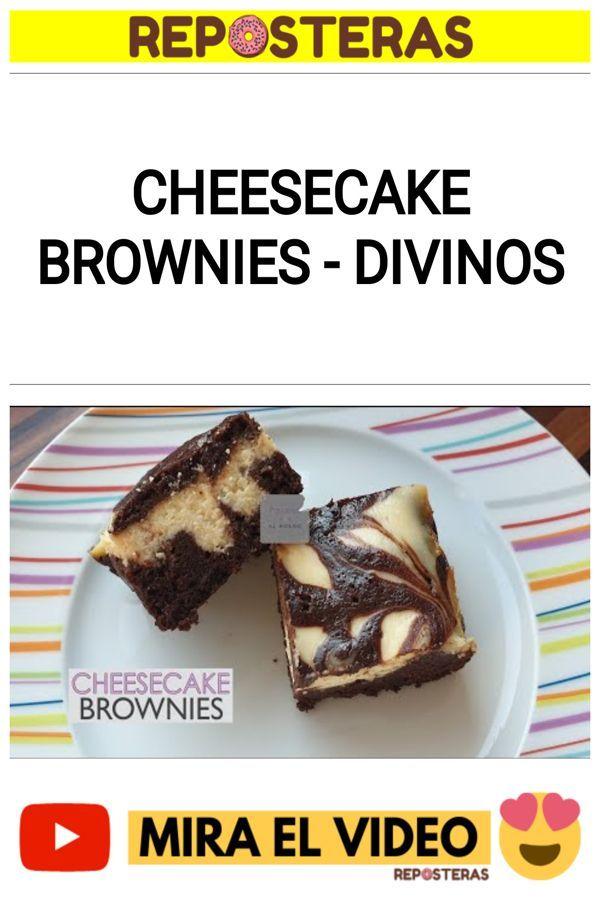 Cheesecake brownies - DIVINOS