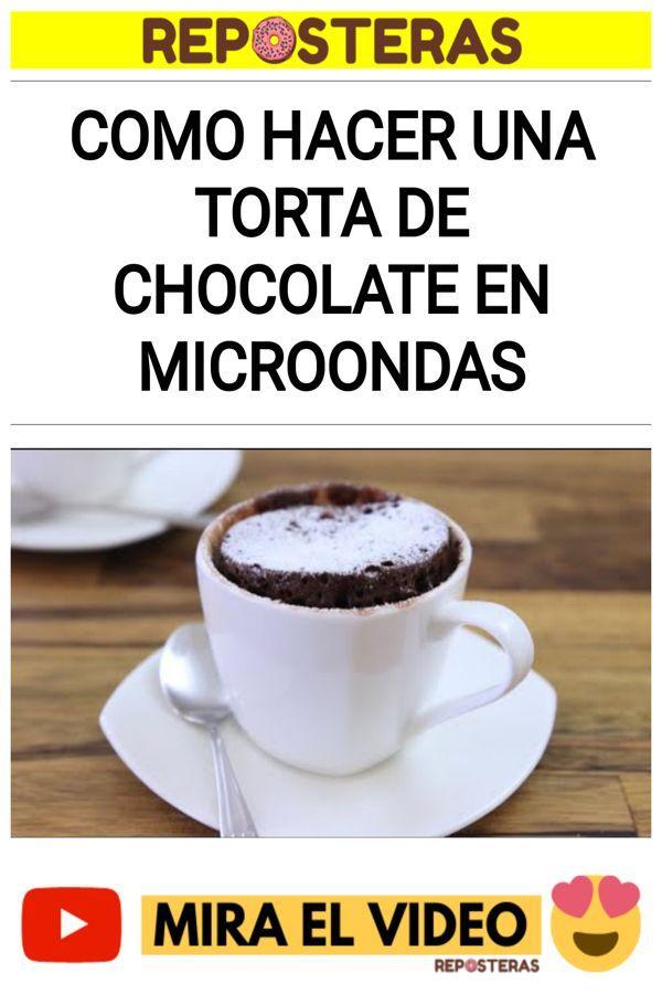 Como hacer una TORTA DE CHOCOLATE en microondas