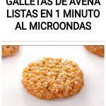 Galletas de Avena listas en 1 Minuto al Microondas