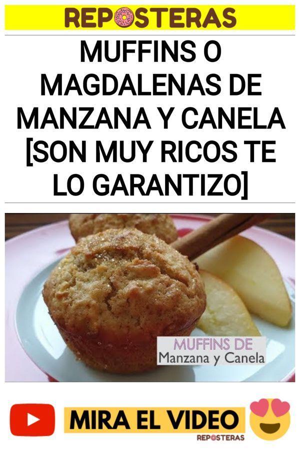 Muffins o magdalenas de manzana y canela [Son muy ricos te lo garantizo]