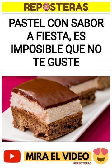 Pastel con sabor a fiesta, es imposible que no te guste