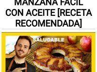 RECETA de torta invertida de manzana fácil con aceite [RECETA RECOMENDADA]