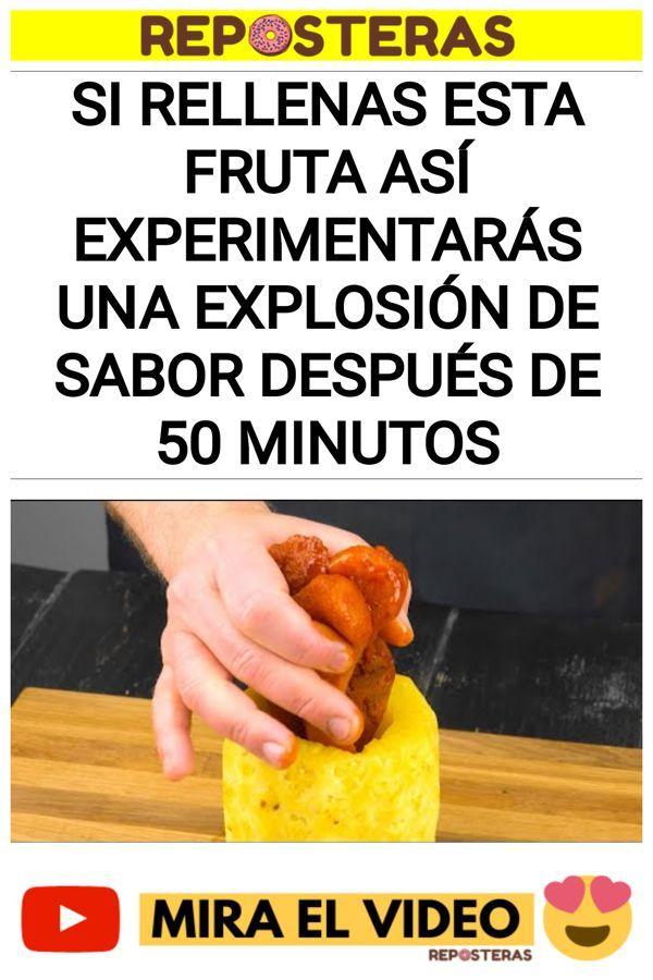 Si rellenas esta fruta ASÍ experimentarás una explosión de sabor después de 50 minutos