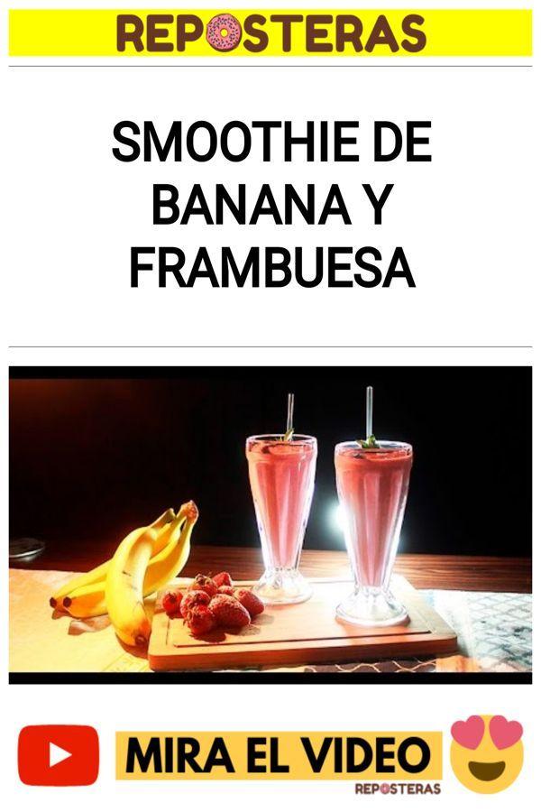 Smoothie de banana y frambuesa