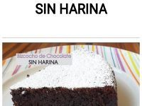 Torta chocolate sin harina