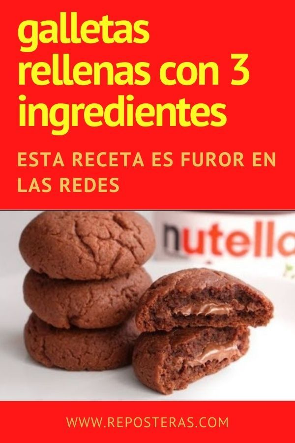Galletas de NUTELLA rellenas con tres ingredientes [HACER EN CASA]