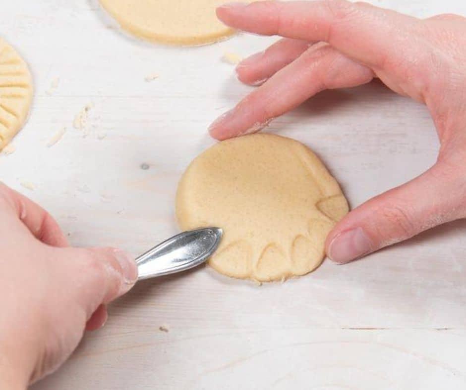 Decoración de galletas con cuchara