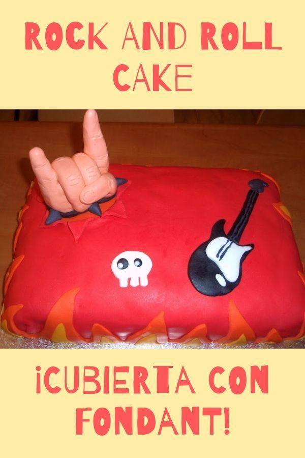 Tarta de fondant Rock and Roll Cake